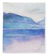 Ocean Watercolor Hand Painting Illustration. Fleece Blanket