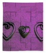 3 Of Hearts Fleece Blanket