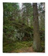 Old Forest In Kauppi Tampere Fleece Blanket