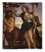 Pallas And The Centaur Fleece Blanket