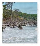 Palmetto Forest On Hunting Island Beach Fleece Blanket