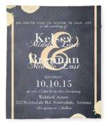 Personalized Wedding Invitation Fleece Blanket