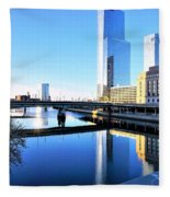 Philly Over The Schuylkill Fleece Blanket