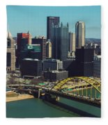 Pittsburg Skyline Fleece Blanket