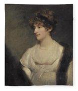 Portrait Of Jane Frere Fleece Blanket