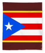 Puerto Rico Flag Fleece Blanket