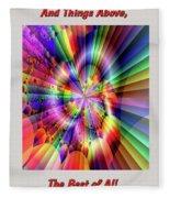 Rainbow Light Fleece Blanket