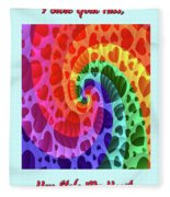 Rainbow Love Fleece Blanket