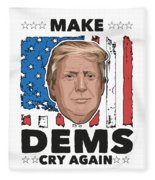Reelect Trump For President Keep America Great Light Fleece Blanket