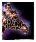 Reticulated Giraffe, Samburu, Kenya Fleece Blanket