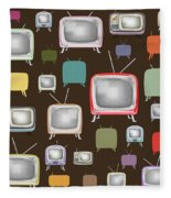 retro TV pattern  Fleece Blanket