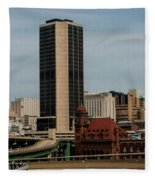 Richmond Virginia Architecture Fleece Blanket