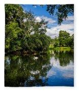 Roath Park Lake Fleece Blanket