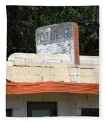 Route 66 - Glenrio Texas Fleece Blanket