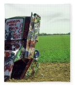 Route 66 - Cadillac Ranch Fleece Blanket