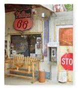 Route 66 - Hackberry General Store Fleece Blanket