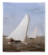 Sailboats Racing On The Delaware Fleece Blanket
