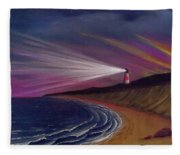 Sankaty Head Lighthouse Nantucket Fleece Blanket