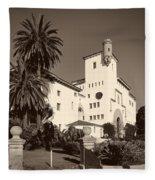 Santa Barbara County Courthouse Fleece Blanket