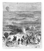 Siege Of Paris, 1870 Fleece Blanket