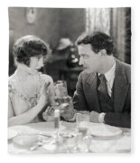 Silent Film Still: Drinking Fleece Blanket