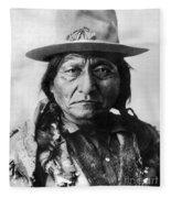 Sitting Bull (1834-1890) Fleece Blanket