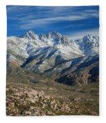 Snowy Four Peaks Arizona Fleece Blanket