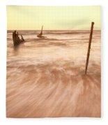 S.s Dicky Shipwreck Fleece Blanket