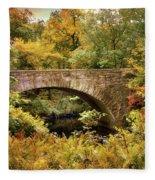 Stone Bridge  Fleece Blanket