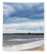 Stormy Seascape - Lyme Regis Fleece Blanket