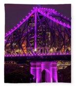 Story Bridge In Brisbane, Queensland Fleece Blanket