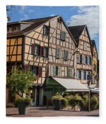 Streets Of Colmar Fleece Blanket