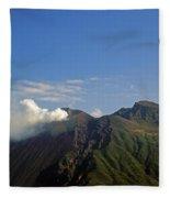 Stromboli Volcano On The Island Of Stromboli Fleece Blanket