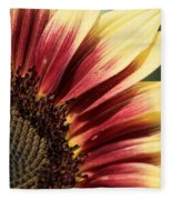 Sunflower Named Ruby Eclipse Fleece Blanket