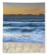 Sunrise By The Sea Fleece Blanket