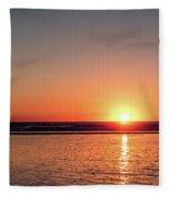 Sunset Over The Ocean Fleece Blanket