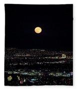 Super Moon In Las Vegas Fleece Blanket