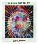 Supernova Of Love Fleece Blanket