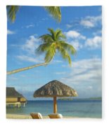 Tahiti, Bora Bora Fleece Blanket