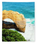 The Arch At Port Campbell National Park Fleece Blanket