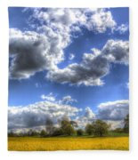 The Farm In Summer Fleece Blanket