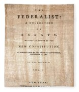 The Federalist, 1788 Fleece Blanket