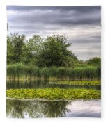 The Lily Pond  Fleece Blanket