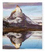 The Matterhorn Mountain In Switzerland Fleece Blanket