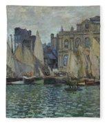 The Museum At Le Havre Fleece Blanket