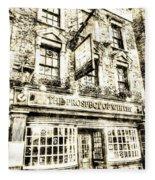 The Prospect Of Whitby Pub London Vintage Fleece Blanket