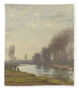 The Small Branch Of The Seine At Argenteuil Fleece Blanket