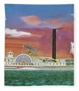 The Steamship Syracuse Fleece Blanket
