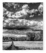 The Summers Day Farm Fleece Blanket