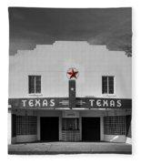 The Texas Theatre Of Bronte Texas Fleece Blanket